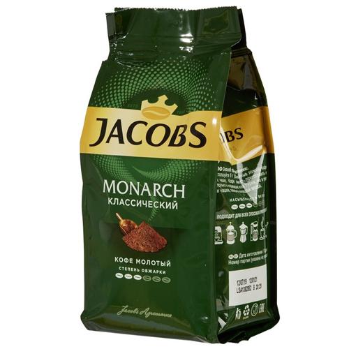 Кофе Jacobs Monarch натуральный молотый, 230 г