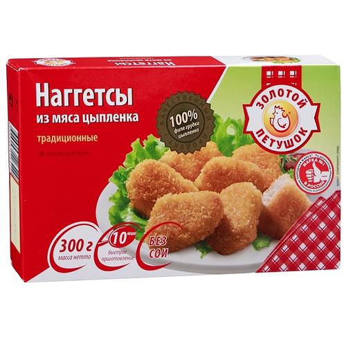 Наггетсы Золотой Петушок цыпленок традиционный, 300 г