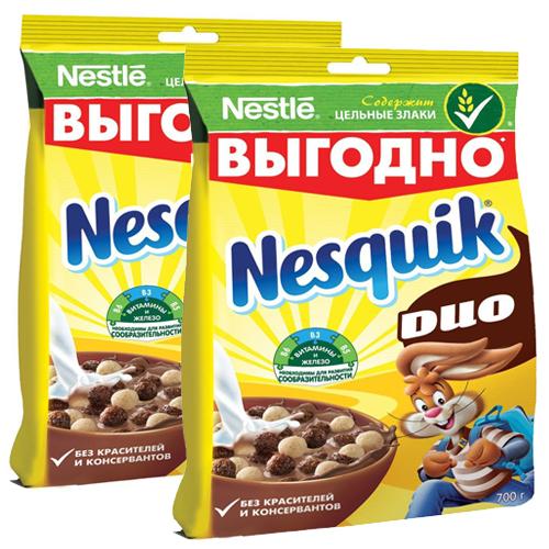 Готовый шоколадный завтрак Nesquik, 2*500 г