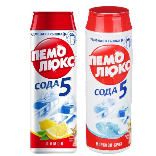 Средство чистящее Пемолюкс, лимон, морской бриз, 480 г