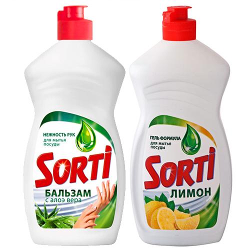 Средство для мытья посуды Sorti, в ассортименте, 450 мл